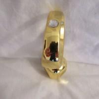 Gold Diamond Jewelled Smooth Head Prostate Plug