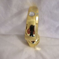 Gold Diamond Jewelled Smooth Head Prostate Plug