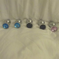 Silver Steel Diamond Candy Butt Plug (M)